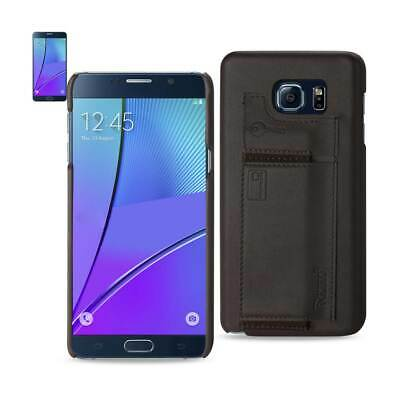Samsung Galaxy Note 5 Rfid Genuine Leather Case Protection & Key Holder In Umber