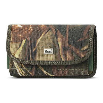 Reiko Horizontal Rugged Pouch With Velcro In Camouflage (5.8X3.0X0.7 Inches)