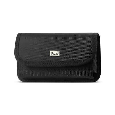 Reiko Horizontal Rugged Pouch With Velcro In Black (5.8X3.2X0.7 Inches)
