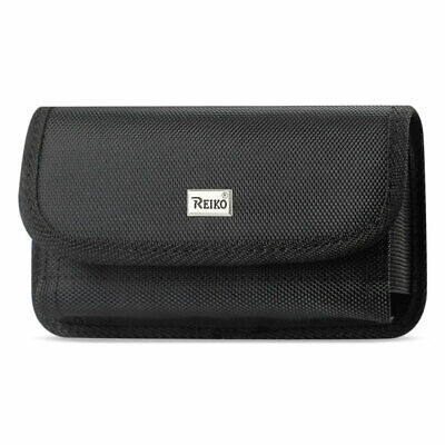Reiko Horizontal Rugged Pouch With Velcro In Black (7.0X3.9X0.7 Inches)