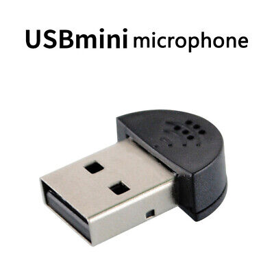 Mini USB Microphone Laptop PC Computer Desktop Audio Studio Recording Plug Mic