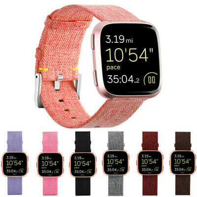 Replacement Woven Nylon Wrist band Strap Watch Band Bracelet For Fitbit Versa UK