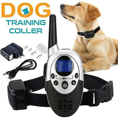1000 Yard 1 Dog Shock Training Collar + Remote Rechargeable 4 Level Waterproof