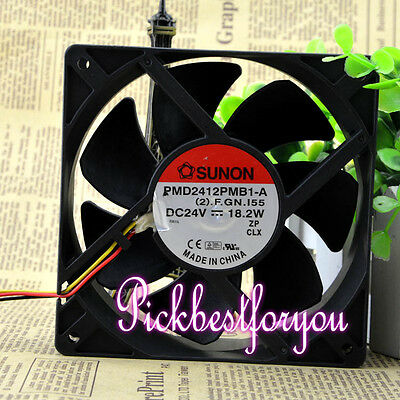 1pc SUNON 12CM 24V 18.2W PMD2412PMB1-A fan 12038 3pin #MG08 QL