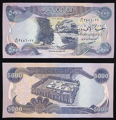 5000 IRAQI DINAR - (1) 5000 IQD Uncirculated Banknote in Excellent Condition