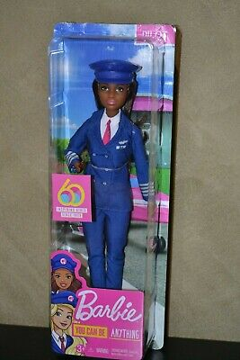 Brand New Barbie Doll 60Th Anniversary Careers Barbie Pilot