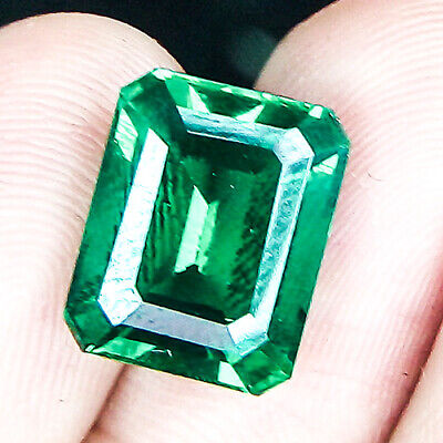 8.56 Cts 13Mm Clean Emerald Crystal Green Natural Emerald Loose Gemstone