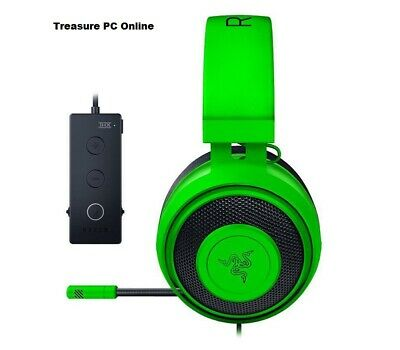 Razer Kraken Tournament Edition Green Gaming Headset with USB Audio Controller