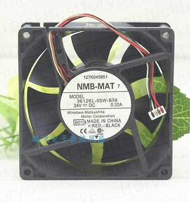 1pc NMB 3612KL-05W-B56 DC24V 0.32A 92*92*32mm 4pin Inverter cooling fan#M4013 QL