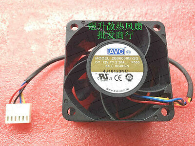 AVC 2B6038B12G 12V 2.2A 60*60*38mm 4pin cooling fan #M4036 QL