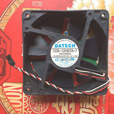 Datech 1238-12Hbta-7 12038 Cpu Fan 12V 1.5A 3Pin #M4002 Ql