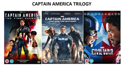 CAPTAIN AMERICA Part 1-3 Trilogy Movie Marvel Collection 1 2 3 New REGION 2 UK
