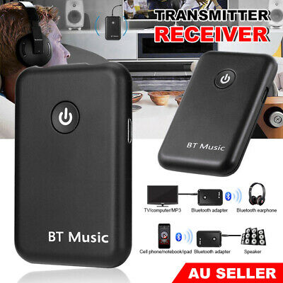 HIFI 3.5mm Wireless Bluetooth 2 in1 Audio Transmitter Receiver RCA Music Adapter