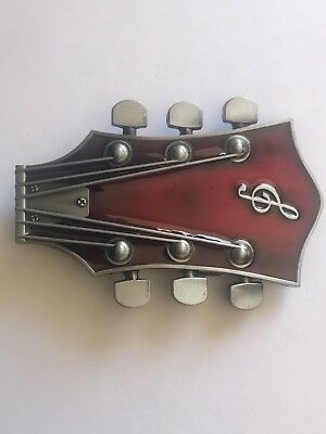 Electric Guitar Music Belt Buckle Suit Denim Jeans Brand New In Packet
