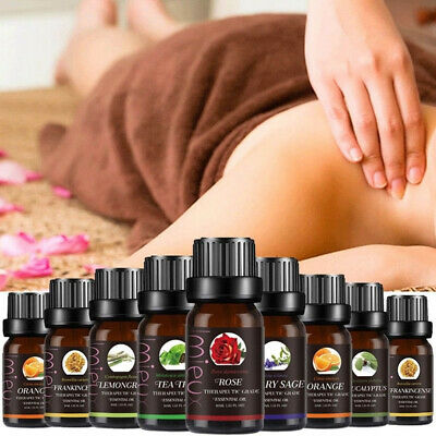 New Aromatherapy Essential Oils 100% Natural Pure 10ml Essential Oil Fragrances