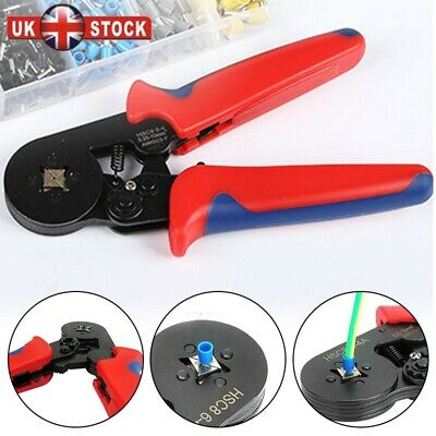 0.25-6mm² Bootlace Ferrule Hand Wire Cord End Crimper Crimp Crimping Tool Pliers