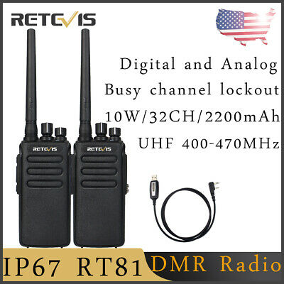 RT81 DMR WALKIE Talkies 10W 32CH UHF Encryption Digital/Analog FM