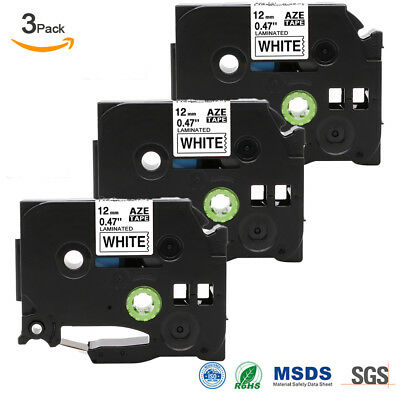 """3 PK LABEL MAKER TAPE Compatible for BROTHER P-TOUCH TAPE TZ-231 TZe-231 0.47"""""""