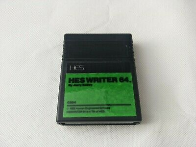 Vintage Commodore 64 - HES Writer 64 Software Cartridge - TESTED AND WORKING