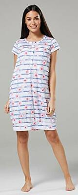 HAPPY MAMA Womens Maternity Labor Delivery Hospital Gown Print Nightshirt 537p