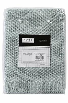 Meyco 2754084 Baby Blanket Winter Relief Mix Coarse Knitted 100 x 150 cm Sage Gr