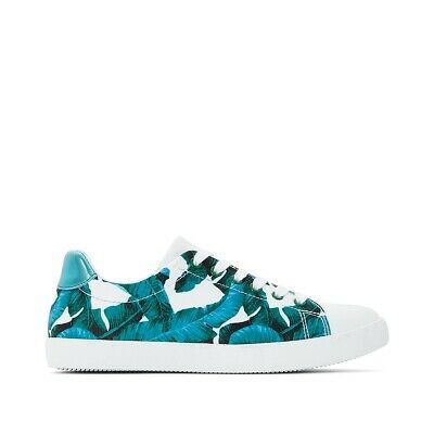 5b39c13945079 LA REDOUTE COLLECTIONS Womens Graffiti Print Low Top Trainers ...