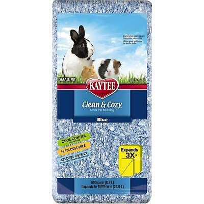 Kaytee Clean Cozy BLUE Super Absorbent Paper Bedding Expands to 24.6 Litre