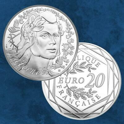 Frankreich - Marianne - 20 Euro 2019 Silber PP - Fraternity Fraternité