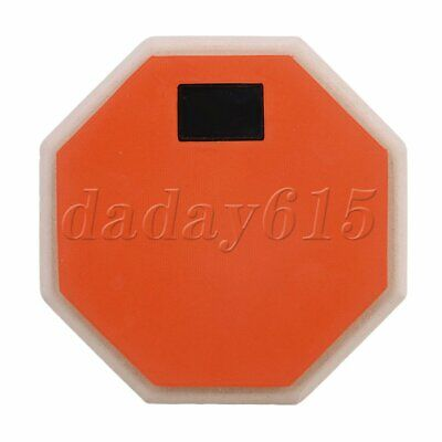 6 Inch Orange Rubber Wooden Base Double Sided Soft Practice Drum Pad