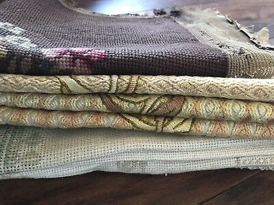 Job Lot antique embroidery Chair Panel And Dollies Textile
