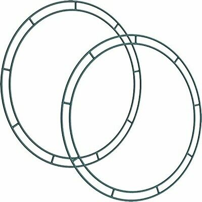 Sumind Flat Wire Rings Wire Wreath Frame Wire Wreath Making Rings for New Year V