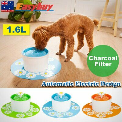 Automatic Electric 1.6 L Pet Water Fountain Dog/Cat Drinking Bowl Flower StyleXV