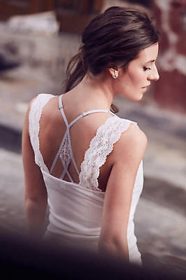 36c758e49695 Anthropologie Lace Edge Tank Sz S Size Small ( 4 6 ) New Top by Eloise