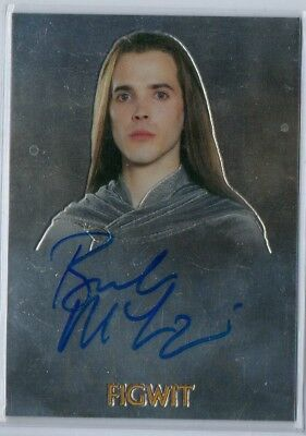 Lord of the Rings Trilogy Chrome Bret McKenzie as Figwit Autograph Card