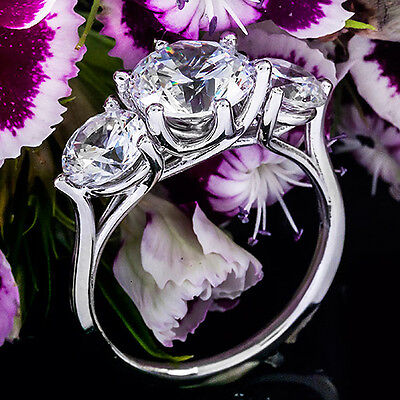 1 CT ROUND CUT DIAMOND G/VS2 SOLITAIRE ENGAGEMENT RING 14k WHITE GOLD