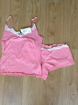 Moon River Camisole Set Size S 10 - 12 Pink With Rose   Lace Brand New c98261b1f
