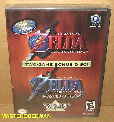 Legend of Zelda Ocarina of Time & Master Quest Gamecube, 2003) GC Wii New Sealed