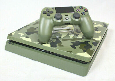 Sony PlayStation 4 PS4 Slim 1TB Limited Edition Console Green Camo   As Is!