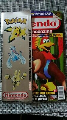 Official Nintendo Magazine Issue 102 With Pokemon Stickers