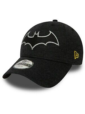 New Era Black Character Jersey 9Forty Batman Kids Curved Peak Adjustable Cap 2fa8a7eb1e34