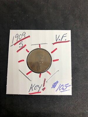 1909-S Lincoln Cent Wheat Penny, Better Date San Francisco Issue