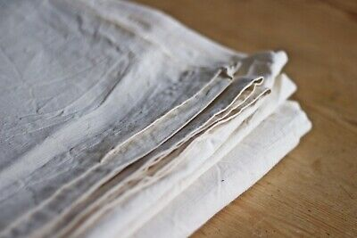 Original French Antique Unused Linen and Cotton Metis Sheet/Fabric