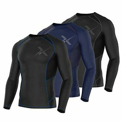 FDX Mens Power Pro Compression Top Baselayers Body Armour Skin Fit Under Shirt