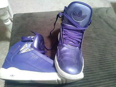 separation shoes bd996 767df Adidas Roundhouse Mid 2.0 Purple Yellow-White G48507 Men s SZ 11