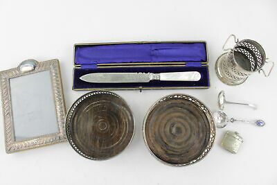 8 x Assorted Vintage SILVER PLATE Decorative Objects Inc. Decanter Stands, Vesta