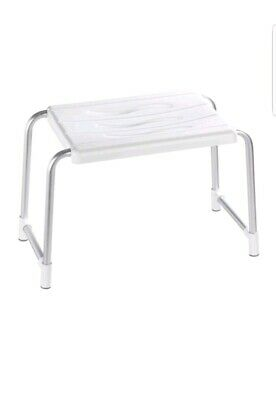 WENKO Portable Shower Stool Bathroom Seat Bath Tub Disability Aid Bench Chair