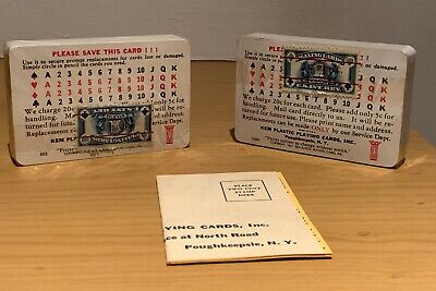 Vintage & RARE KEM Plastic Playing Cards by Harvest, N.Y., USA, New Condition