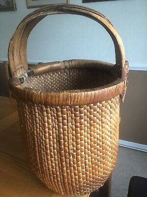 Large Rare Chinese Rice Basket
