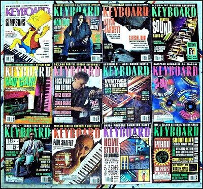 Keyboard Magazine - 1993 - 12 Issues