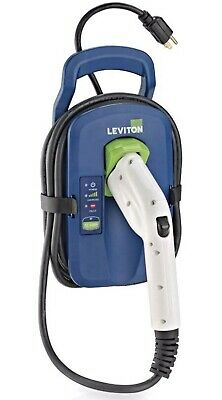 Portable Electric Vehicle Charger Leviton 002 Evc11 300 Evr Green